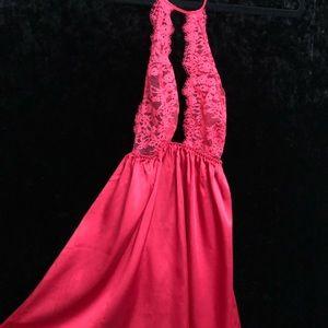 Red lace Victoria's Secret Nightgown